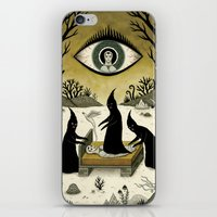 jon snow iPhone & iPod Skins featuring Three Shadow People Terrify a Victim During an Episode of Sleep Paralysis by Jon MacNair