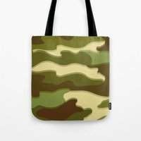 camo Tote Bags featuring CAMO by Bruce Stanfield