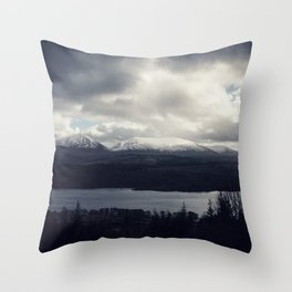 Late Winter in the Trossachs Throw Pillow