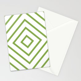Nested Green Squares Stationery Cards