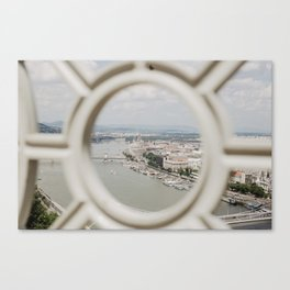 bird's eye view of Budapest Canvas Print