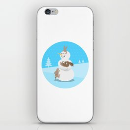 Snowman's Best Friends iPhone Skin
