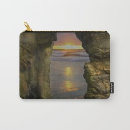 Perranporth Sunset, Cornwall, England, United Kingdom Carry-All Pouch