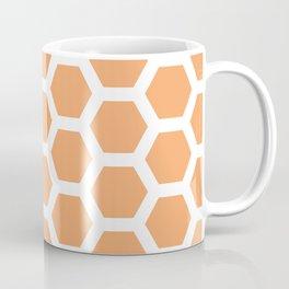 Pink Peach Honeycomb Geometric Pattern Coffee Mug