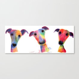 ' THe WaCKY WHiPPeTS ' WHiPPeT, GReYHouND PRiNTs, ART Canvas Print