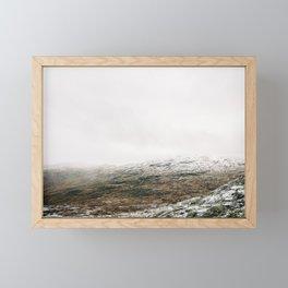 White winter mountain landscape | Norway travel photography print | Trolltunga Wanderlust art Framed Mini Art Print