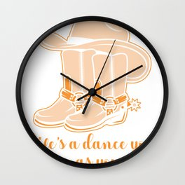 Cowboy Life Dancing Learning Music Fan Band Gift Wall Clock
