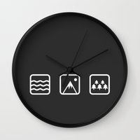 outdoor Wall Clocks featuring Outdoor by Imagonarium