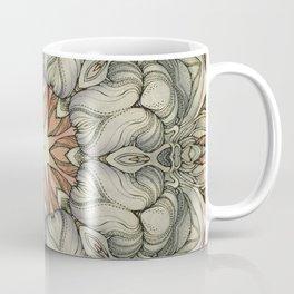 abstract flowers hand drawn and  kaleidoscope mandala Coffee Mug