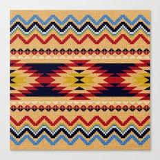 Aztec pattern Canvas Print