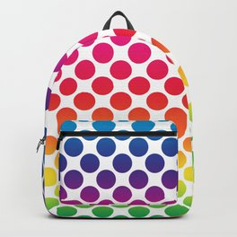 Polka Dots in multi color (small) Backpack