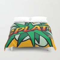 comic book Duvet Covers featuring Comic Book SPLAT! by The Image Zone