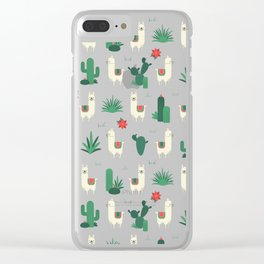 Fleece Navidad and Cactus Clear iPhone Case