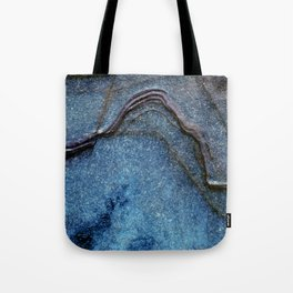 Blue Moonlight With Dark Ridges Tote Bag