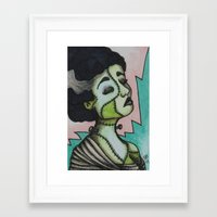 bianca green Framed Art Prints featuring Bianca by Sarah Huth