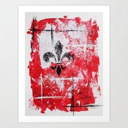 Fleur Lines [V5] Art Print