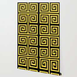 GRAPHIC GRID 4 SWIRL ABSTRACT DESIGN (BLACK AND YELLOW) SERIES 3 OF 6 Wallpaper