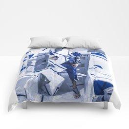 Blue/White Runway Comforters
