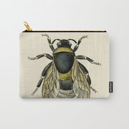 Vintage Bee Illustration Carry-All Pouch
