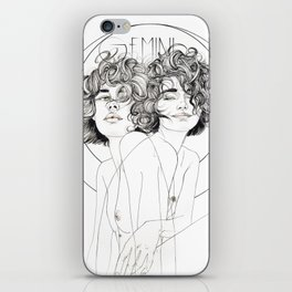 Gemini Zodiac (The Twins) iPhone Skin