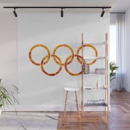 Flaming Olympic Rings Wall Mural