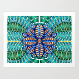 Trippy Flower Design Art Print
