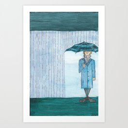 It Rained Today in Linear Land Art Print