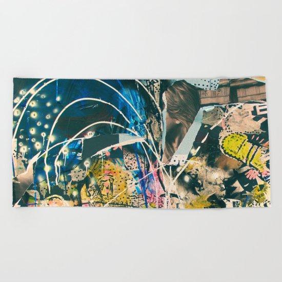 Art Graffiti vintage 4 Beach Towel