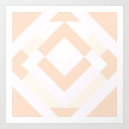 Diamond Taupe Art Print