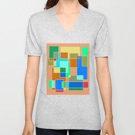 Abstract #927 Unisex V-Neck