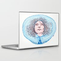 marc Laptop & iPad Skins featuring portrait m - almost Marc Bolan - 014 by Ana Vânia Fonseca