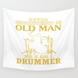 Old Man - A Drummer Wall Tapestry