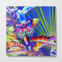 Neon Pop Art Beautiful Butterfly Bonanza  Metal Print