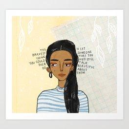 Bravest Girl Art Print