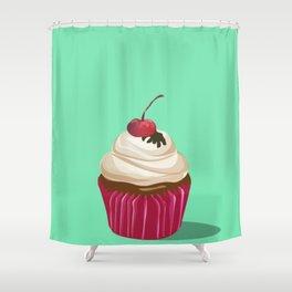 Cupcakes Vintage Shower Curtain