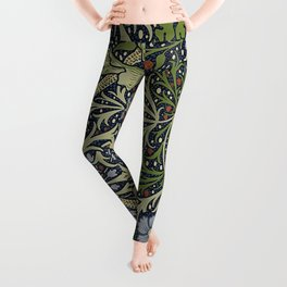 William Morris Seaweed Pattern Leggings