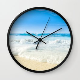 Beach Love Summer Sanctuary Wall Clock