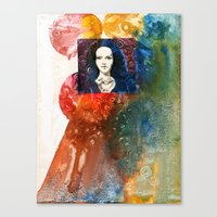 lucy Canvas Prints featuring Lucy by Ecsentrik