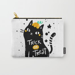 Black cat with halloween style Carry-All Pouch