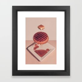WAFFLE BUTTER AND SYRUP Framed Art Print