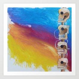 Untitled #98 Chichen Itza Skull Art Print