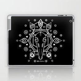 Raven Skull (All-Seeing) - White Laptop & iPad Skin