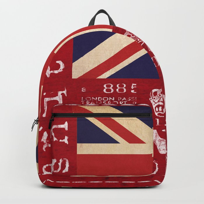 Union Jack Great Britain Flag Backpack