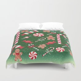 Christmas Candy Cheer Duvet Cover