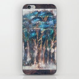 Faded Semi-Abstract Trees iPhone Skin