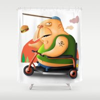 motivation Shower Curtains featuring Motivation by Sloe Illustrations