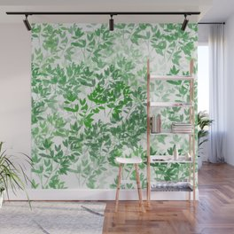Inspirational Leafy Pattern Wall Mural