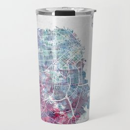 San Francisco map Travel Mug
