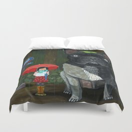 """My French Bull Chubu""  Duvet Cover"