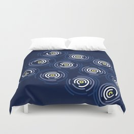 Spin Cycle – Navy / Yellow / Blue Circle Pattern Duvet Cover